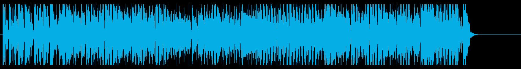 ヒーロー・特撮向けの前進していくBGMの再生済みの波形