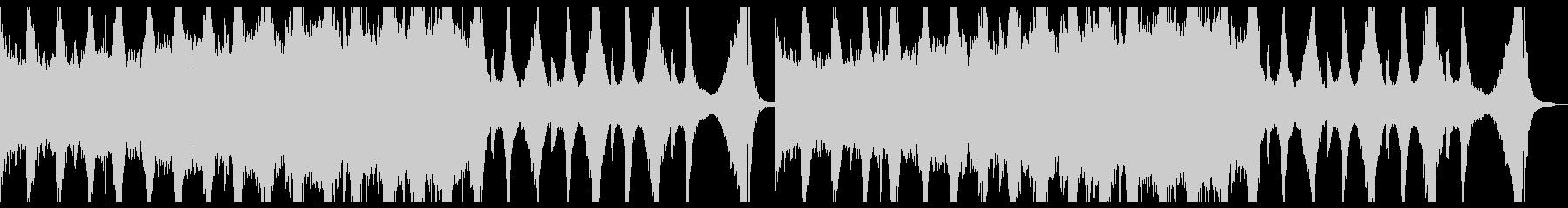激しいピアノのリフから始まる曲調の未再生の波形