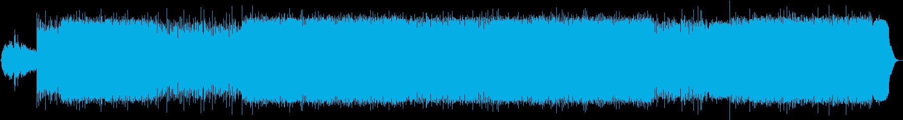 軽快なリズムの綺麗な曲の再生済みの波形