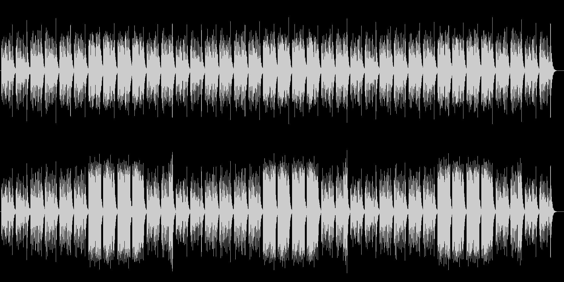 かわいいファンタジーなシンセサイザー曲の未再生の波形