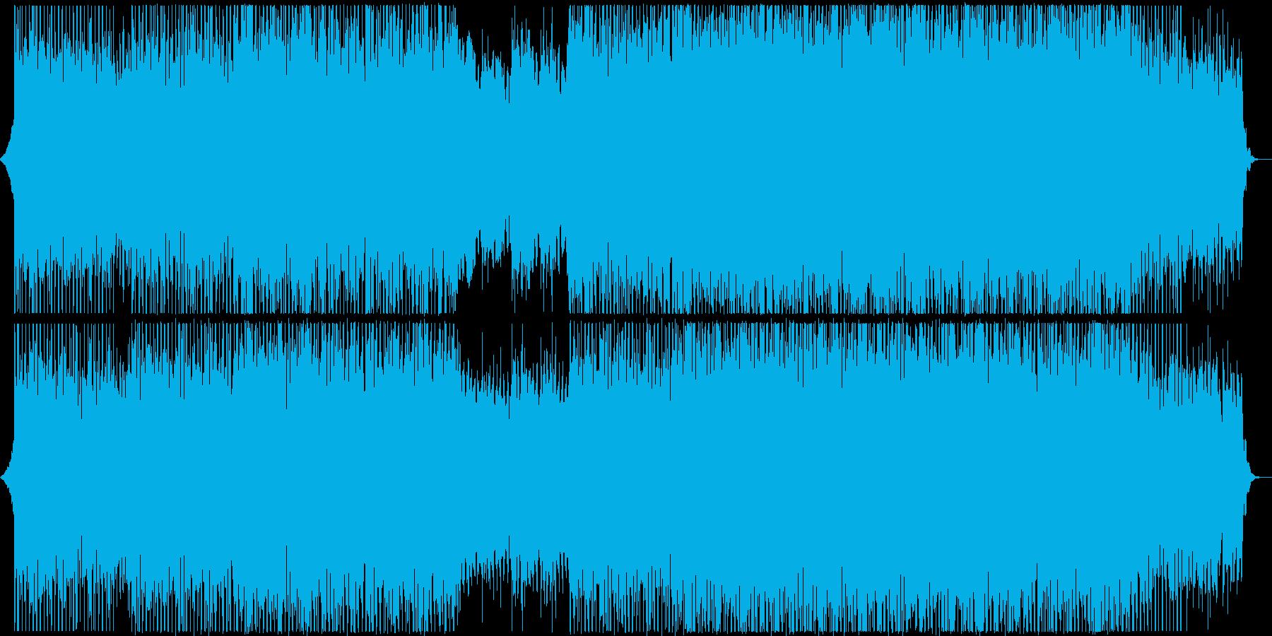 明るく陽気な四つ打ちポップスの再生済みの波形