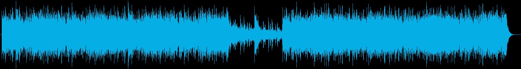 ミステリアスかつ神秘的なBGMの再生済みの波形