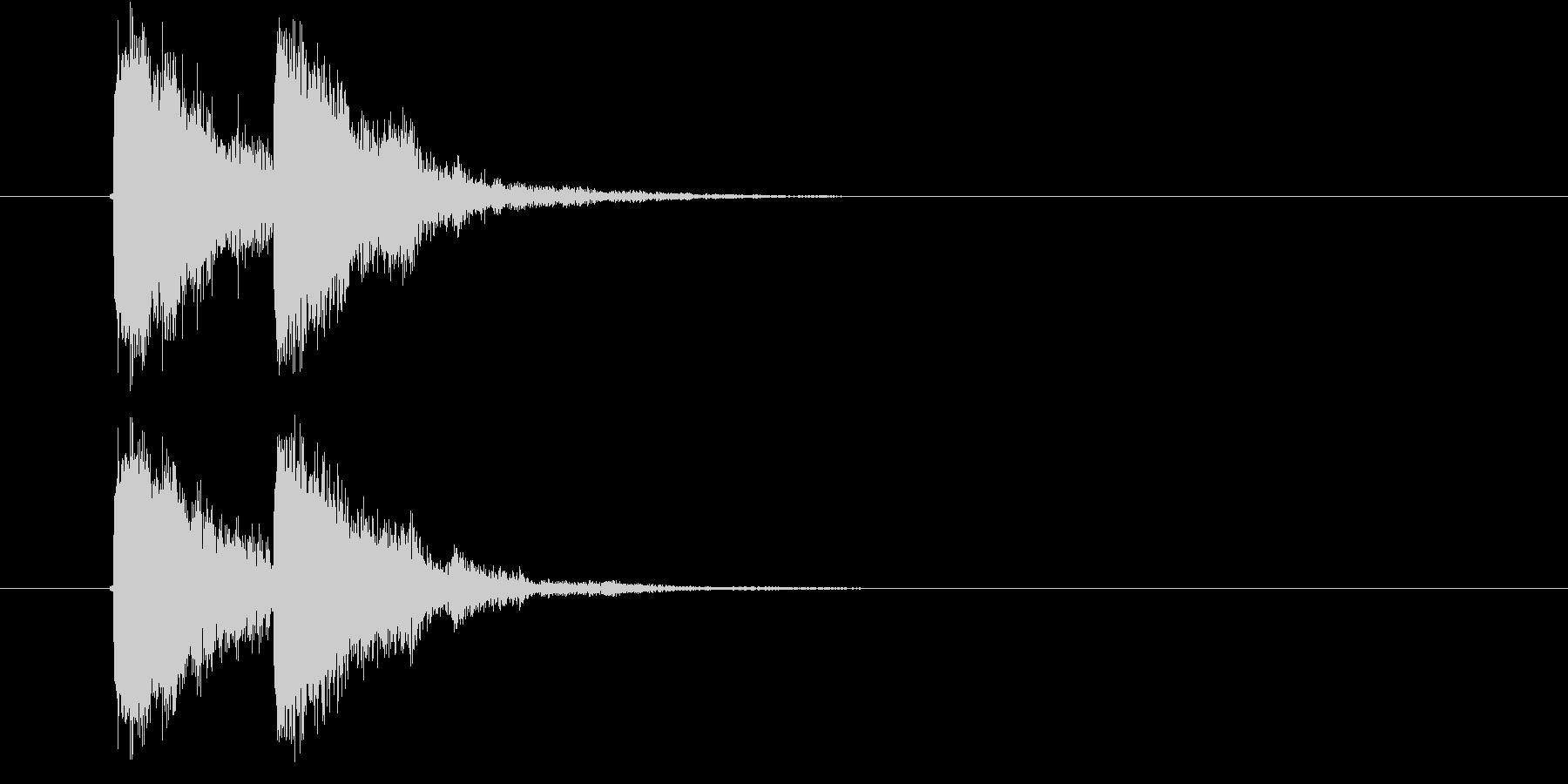 ジャッジャン 効果音の未再生の波形