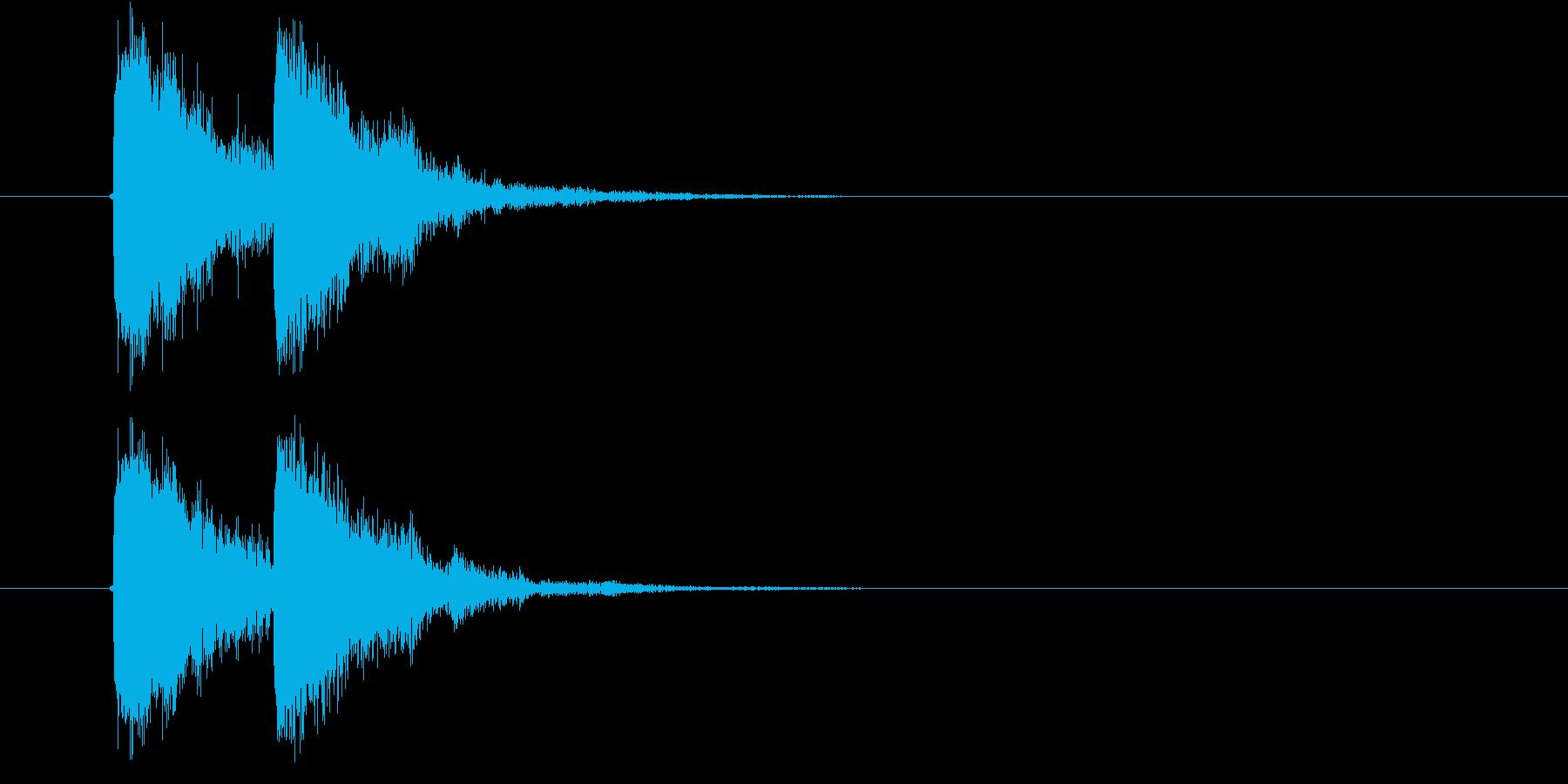 ジャッジャン 効果音の再生済みの波形