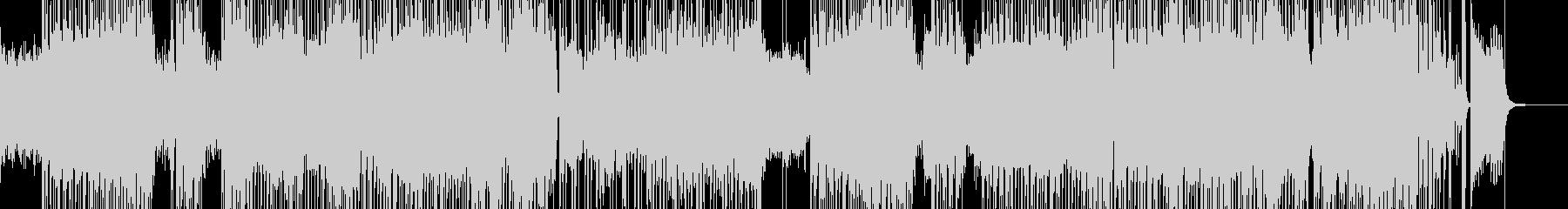ハイテンションなシンセ・ハロウィンロックの未再生の波形
