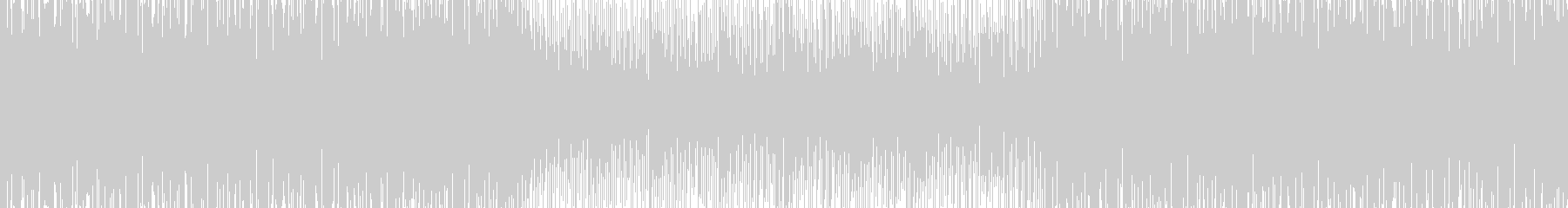 切迫感のあるBGMの未再生の波形