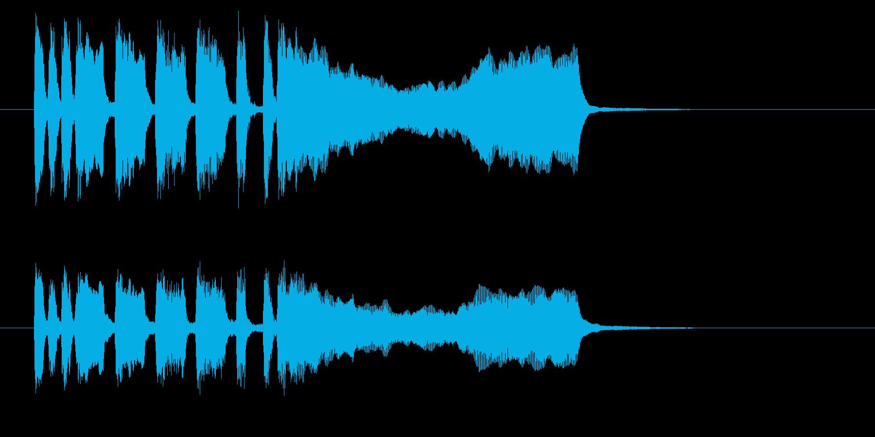 テテテテー!高音ブラス系のファンファーレの再生済みの波形