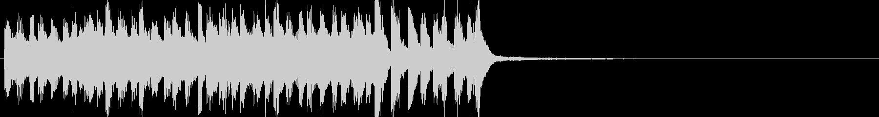 勢いのある電子音ジングルの未再生の波形
