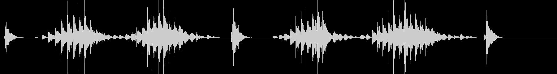 大太鼓14サザ浪歌舞伎情景描写和風和太鼓の未再生の波形