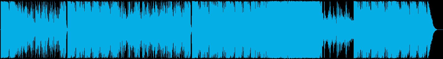 青の世界の再生済みの波形