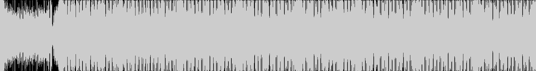 疾走感のある暗い雰囲気のエレクトロ楽曲Lの未再生の波形