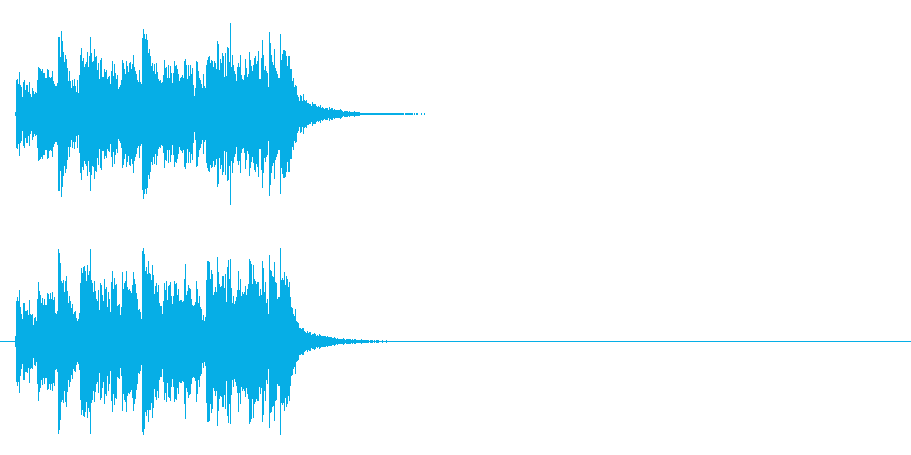 シリアスなドキュメント風マイナー調の曲の再生済みの波形