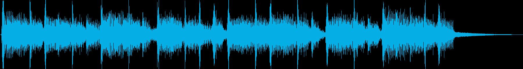 EWF風のヴォコーダージングルの再生済みの波形