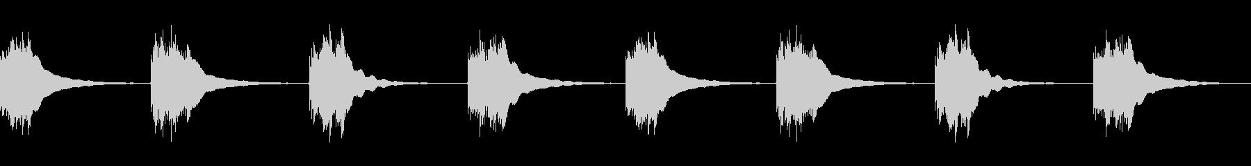 いくつかのリングベル;電話の未再生の波形