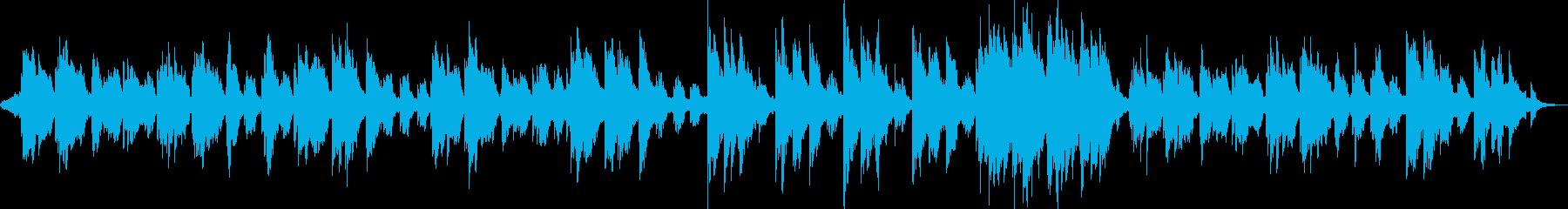 水に漂っている様なアンビエント系BGMの再生済みの波形