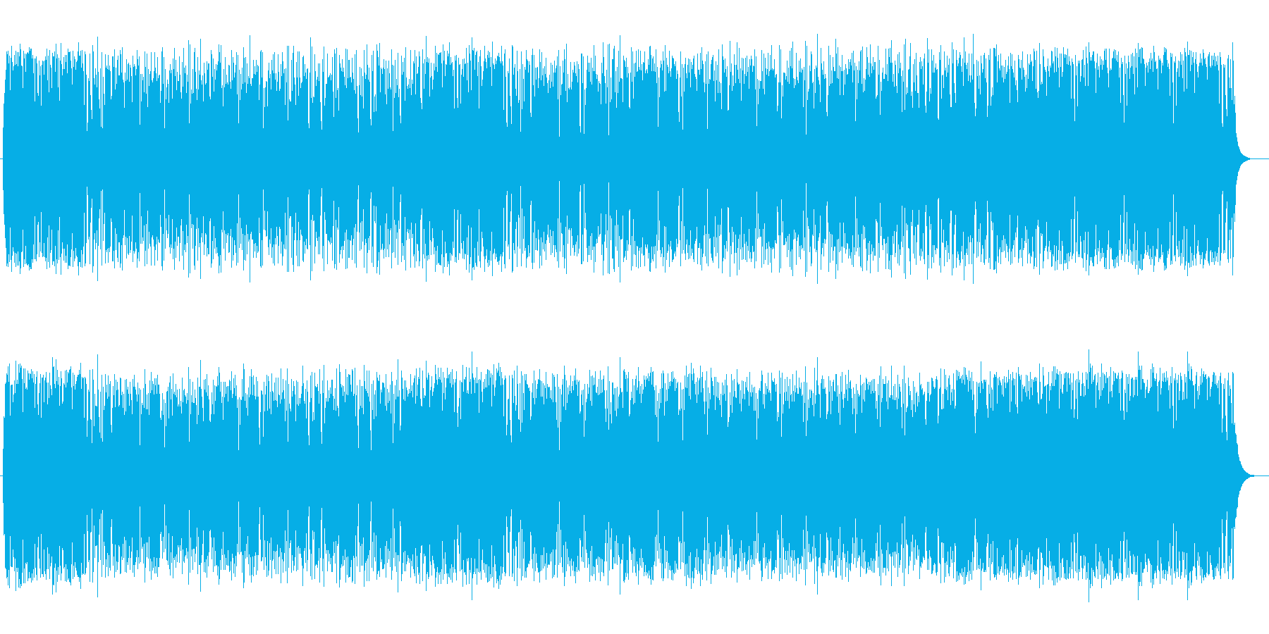疾走感のある和やかなメロディーの再生済みの波形