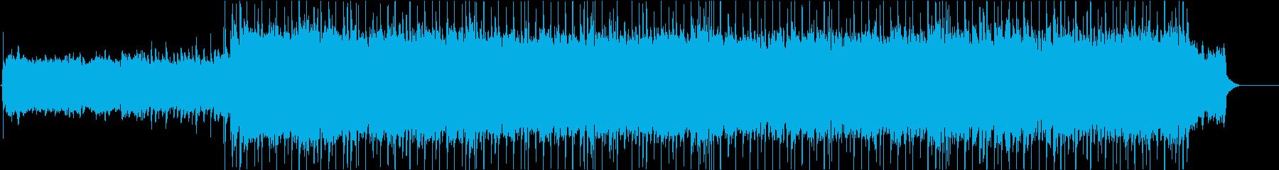 ファンタジー系RPG向けロックBGMの再生済みの波形