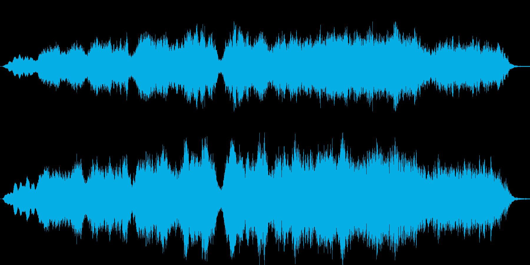 悠然とした美しく感動的なストリングスの再生済みの波形