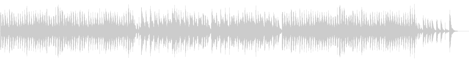 マリンバとアコーディオンの弾むポップスの未再生の波形