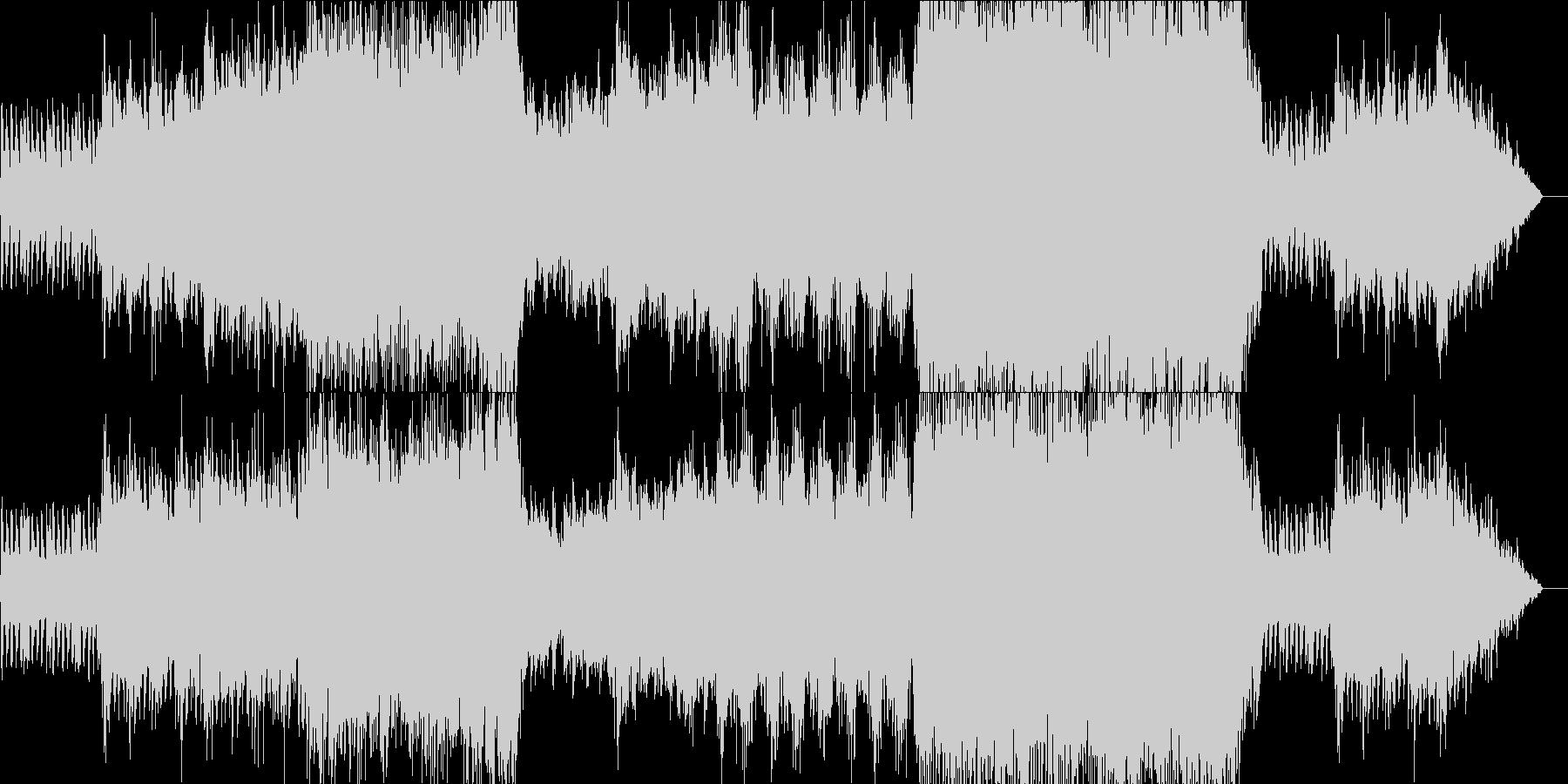 オーケストラのかっこいいゲーム用戦闘曲の未再生の波形