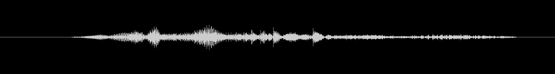 鳴き声 男性の叫びヒット02の未再生の波形