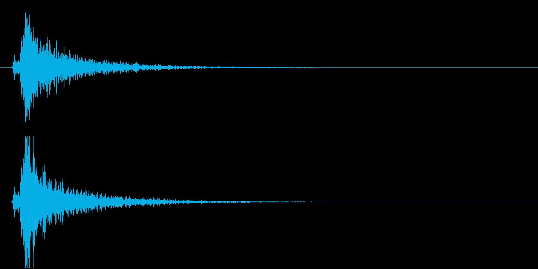 残響の強い鈴(シャーーン!)の再生済みの波形