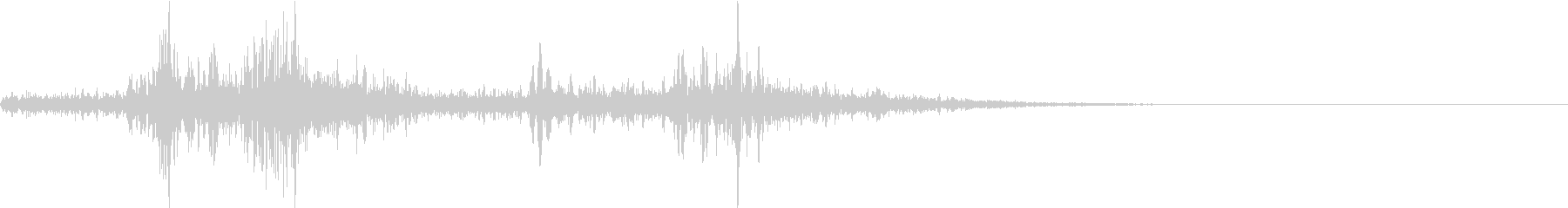 【生録音】布団から飛び起きる音 1の未再生の波形