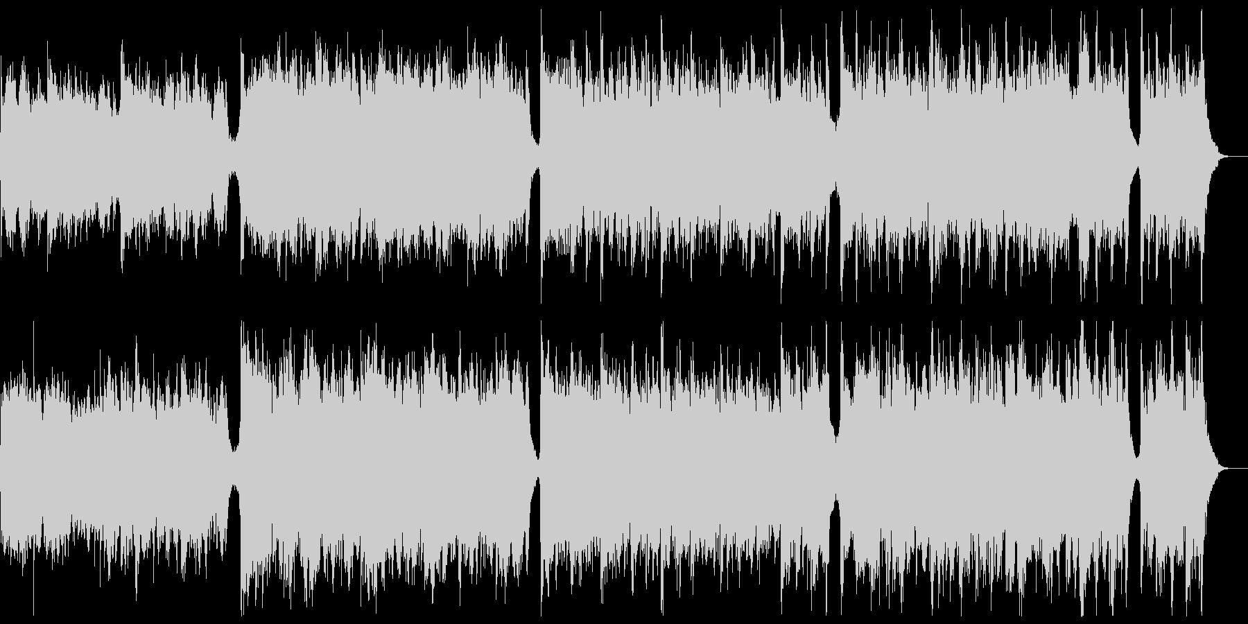 知的なシネマティックピアノ:メロディ無の未再生の波形