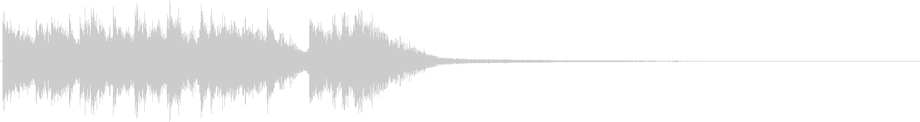 ピコピコ電子音ジングルの未再生の波形