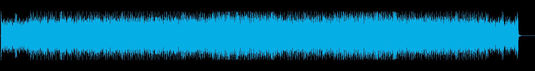 アンニュイな雰囲気のテクノBGMの再生済みの波形