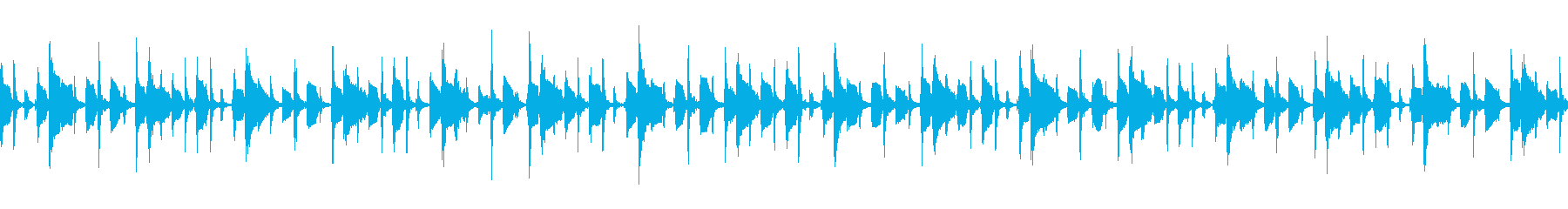 小躍りの再生済みの波形