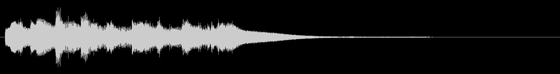 優しい静かなピアノジングル/ストリングスの未再生の波形