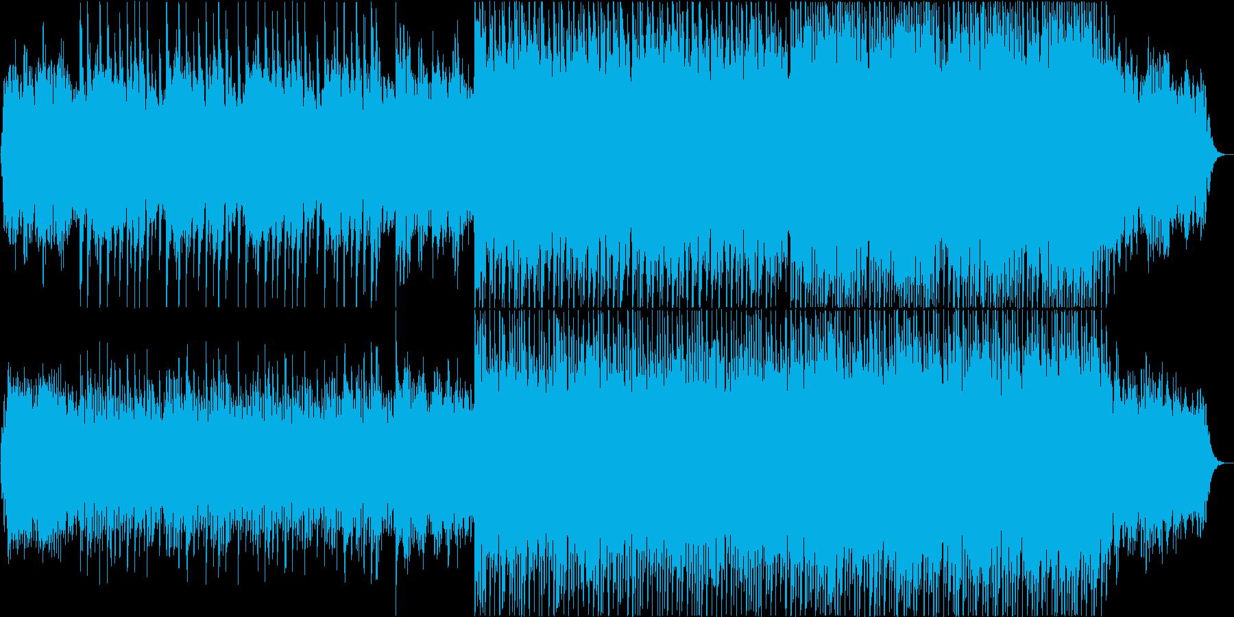 力強くスピード感溢れるコーポレートロックの再生済みの波形