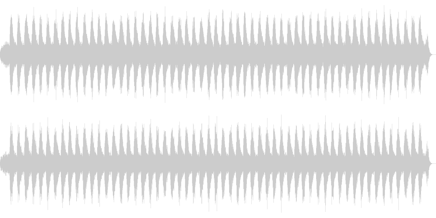 ヒーリング/リラクゼーションBGMの未再生の波形