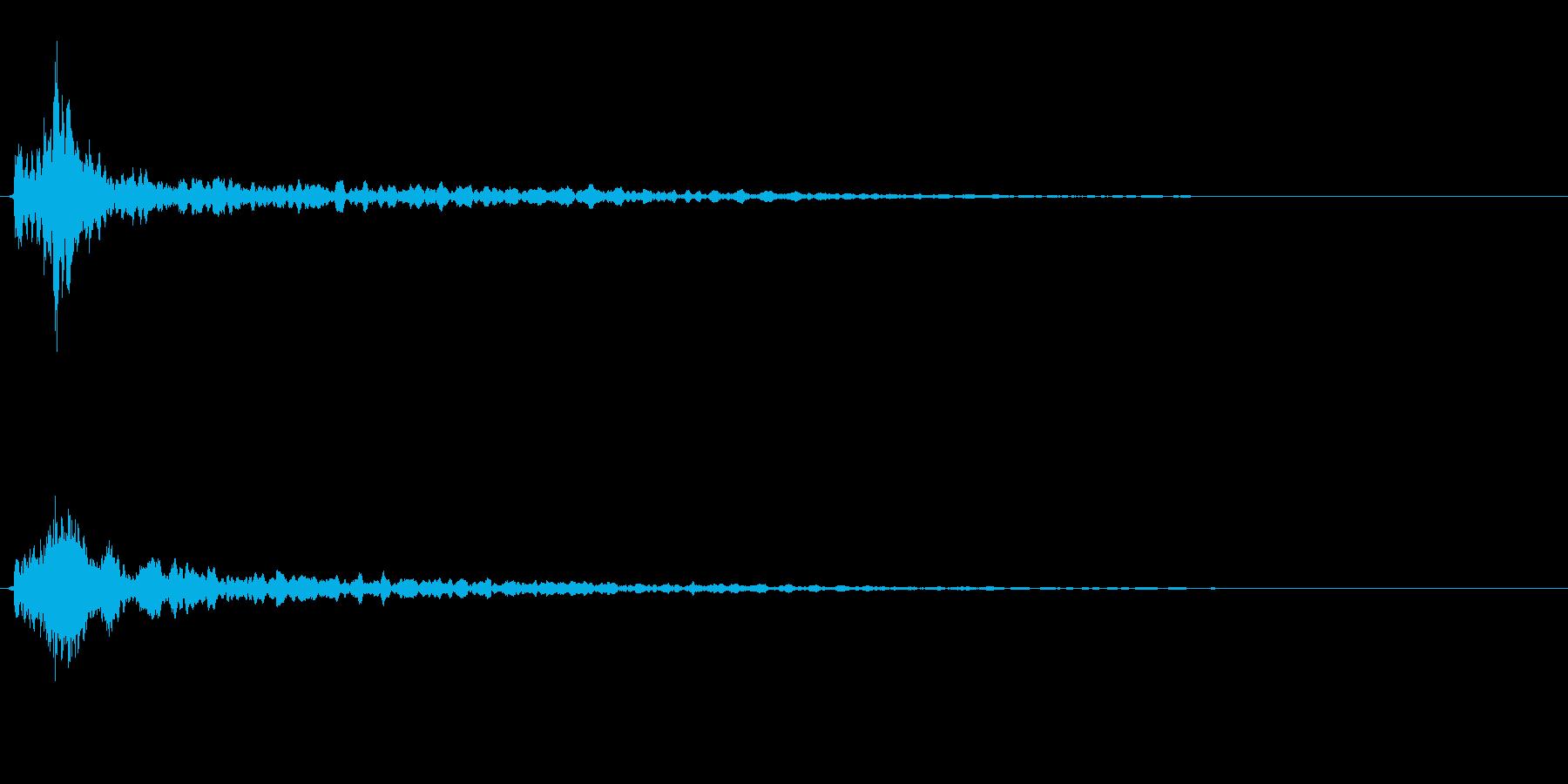 サスペンスに最適!ピアノの弦を弄ぶ音29の再生済みの波形