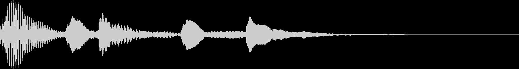 マリンバのかわいい料理番組の転換の音#2の未再生の波形