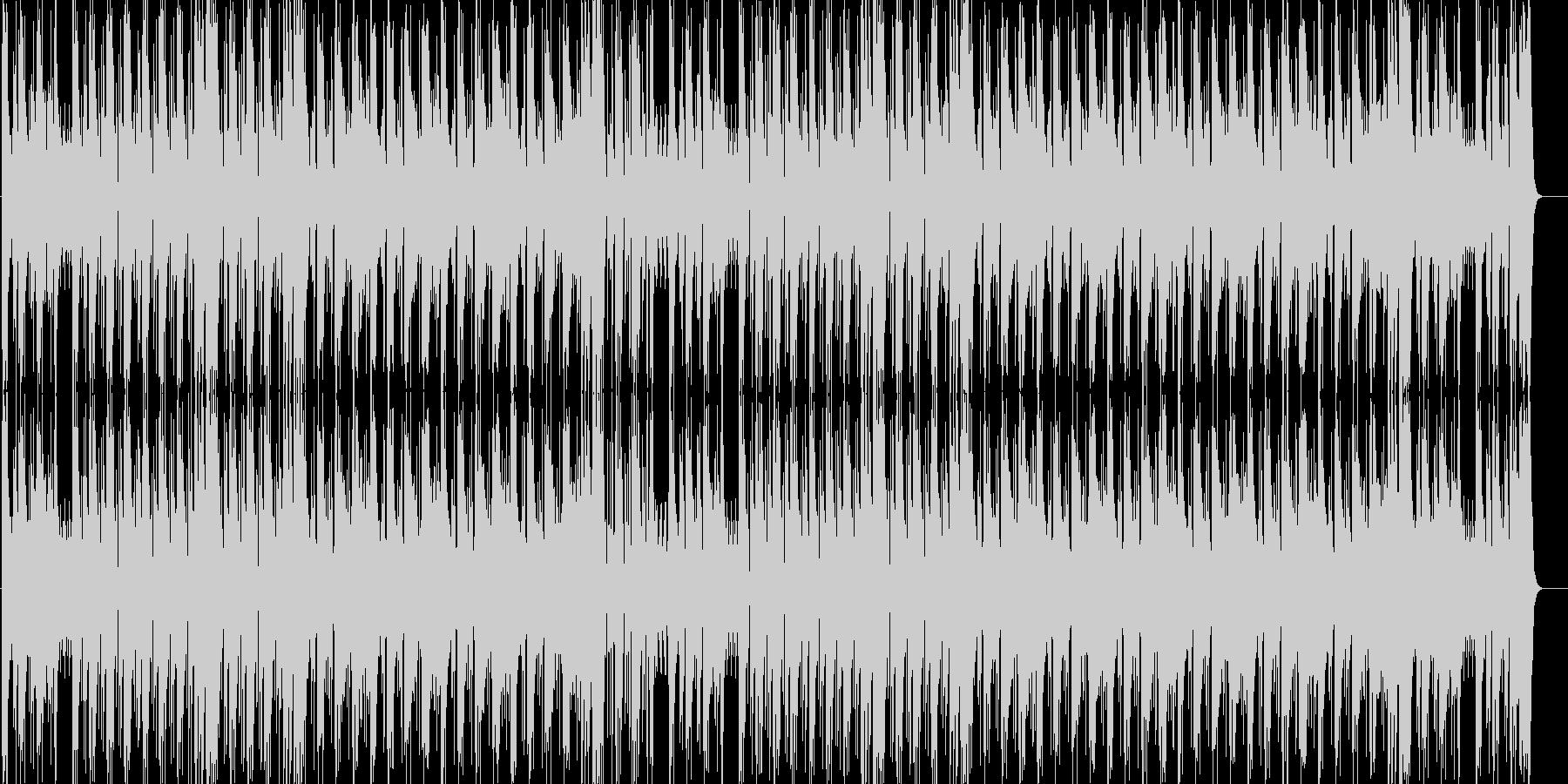 燃えるようなインパクトあるメロディーの未再生の波形