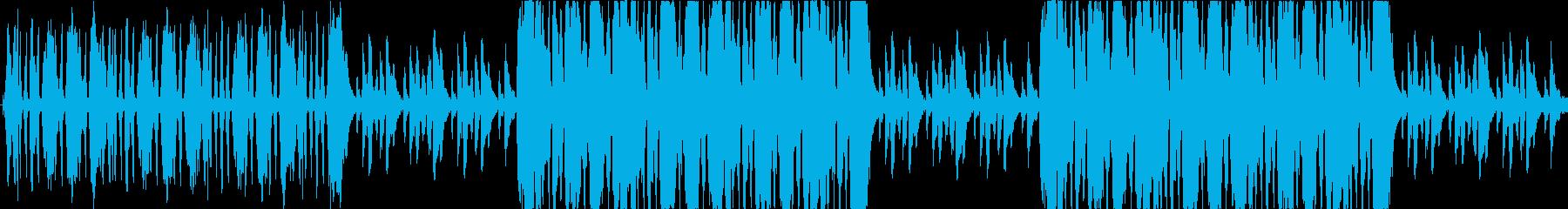 RPGの宮殿・城砦の重厚なオーケストラの再生済みの波形