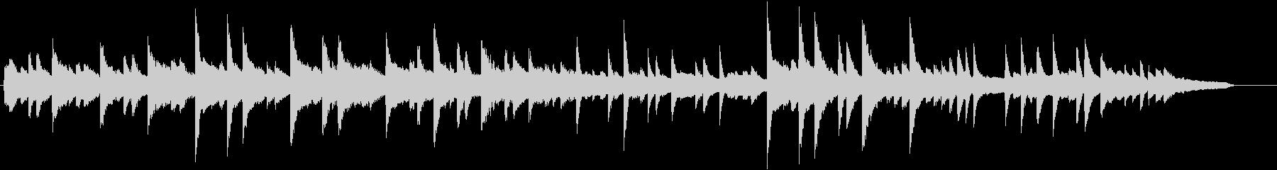 美しいコードのきよしこの夜ピアノBGMの未再生の波形