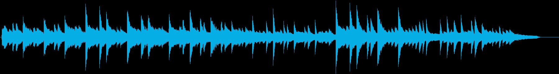 美しいコードのきよしこの夜ピアノBGMの再生済みの波形