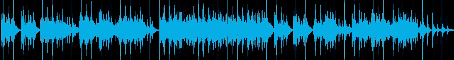 穏やかで気品のある和風楽曲の再生済みの波形