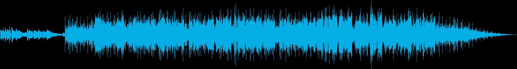 アルトサックスの軽快なフュージョンの再生済みの波形