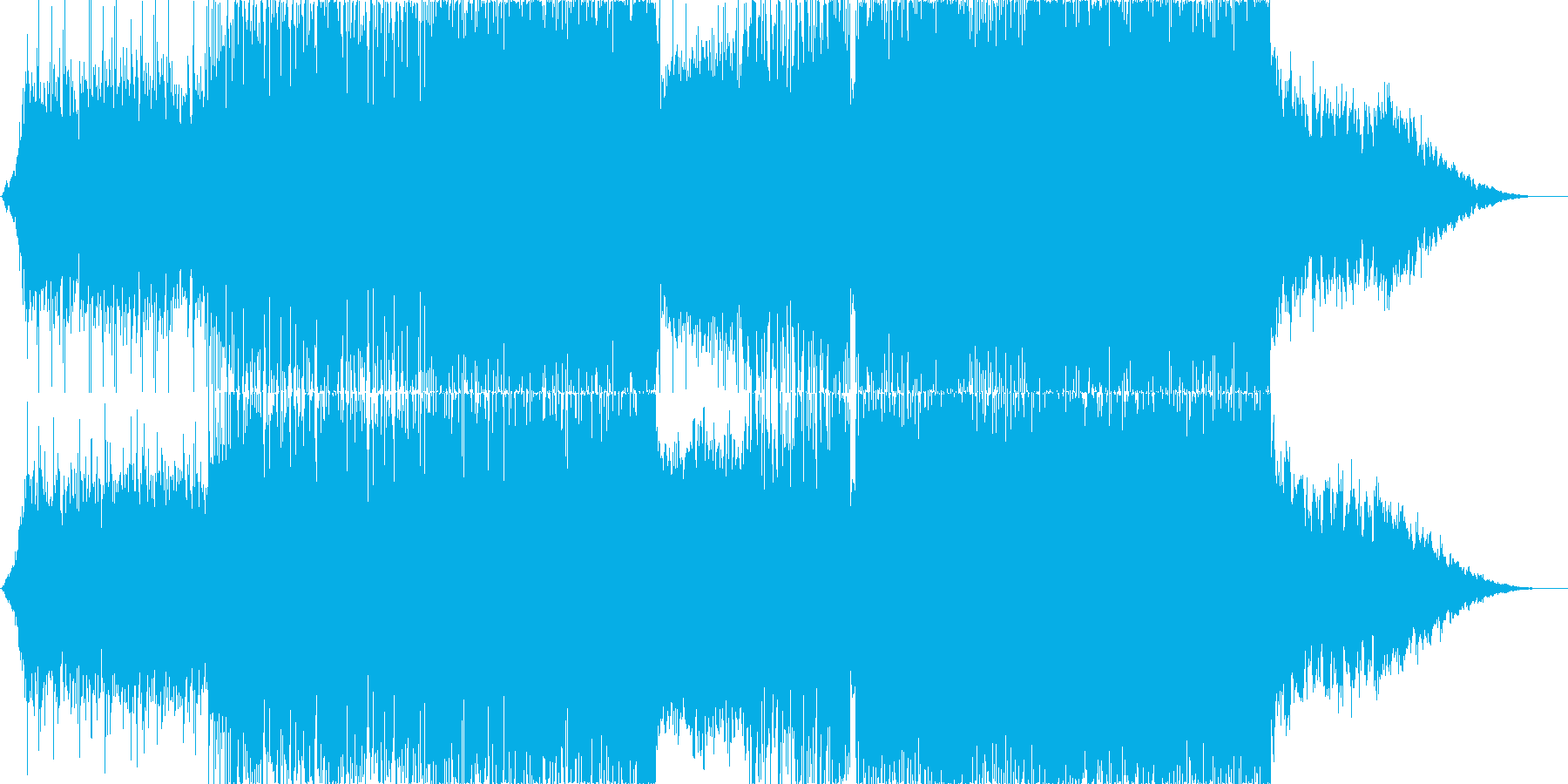 宇宙的・壮大なEDM ダブステップの再生済みの波形