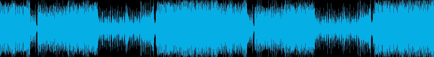疾走感のある和風ゲームミュージックの再生済みの波形