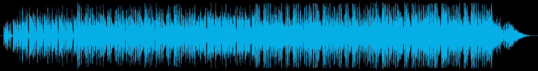 弾むピアノ曲の再生済みの波形
