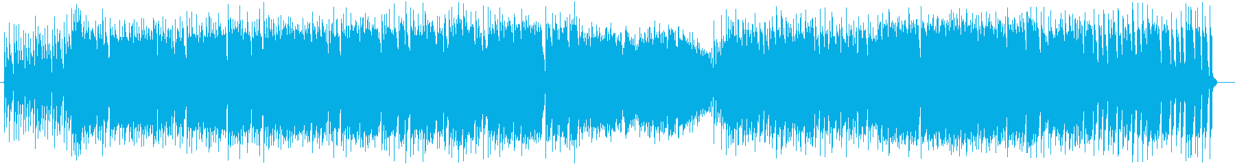 うきうきするようなポップな曲の再生済みの波形