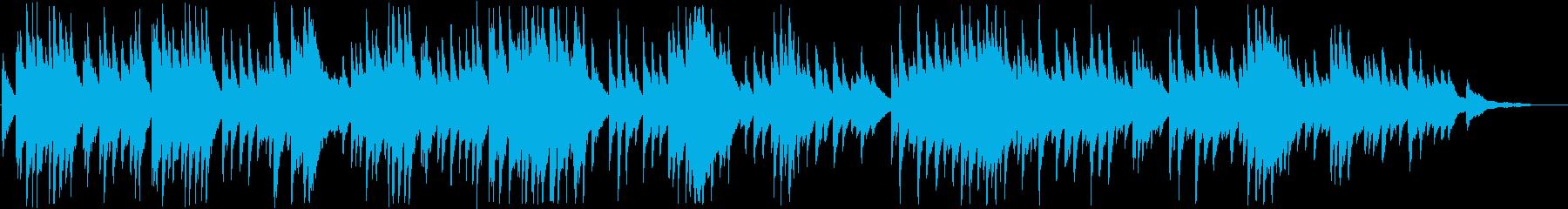 ピアノ調のもの悲しい音楽の再生済みの波形