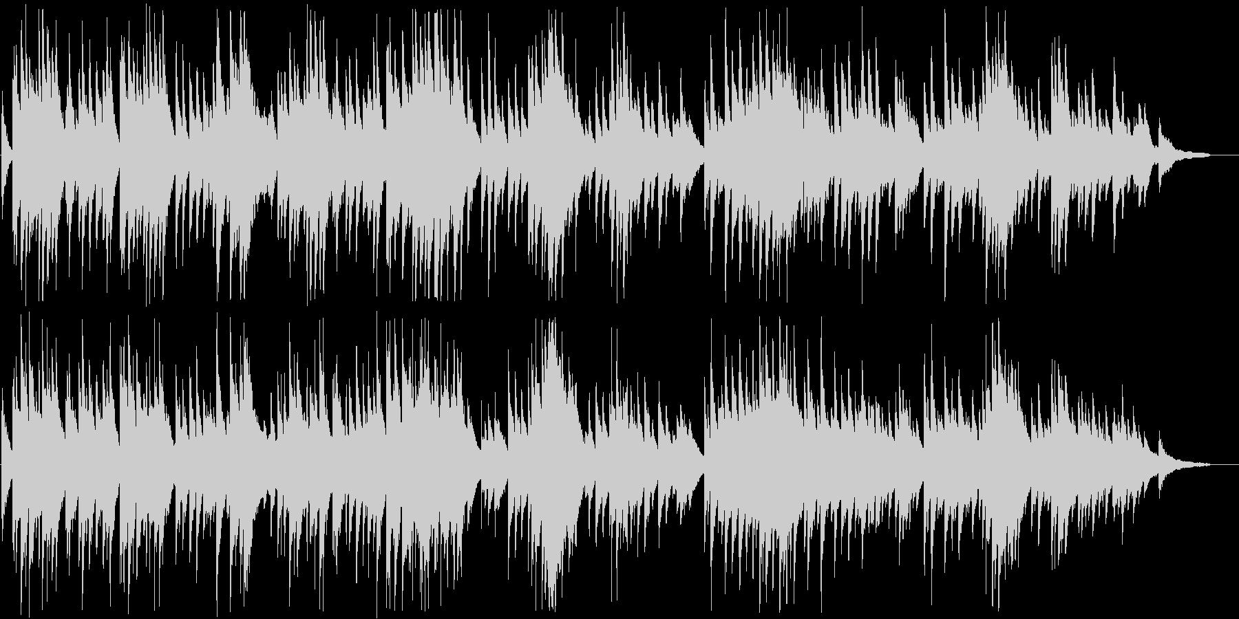 ピアノ調のもの悲しい音楽の未再生の波形