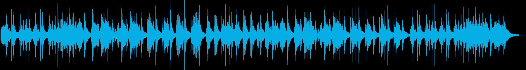 箏とピアノだけの静かな曲の再生済みの波形