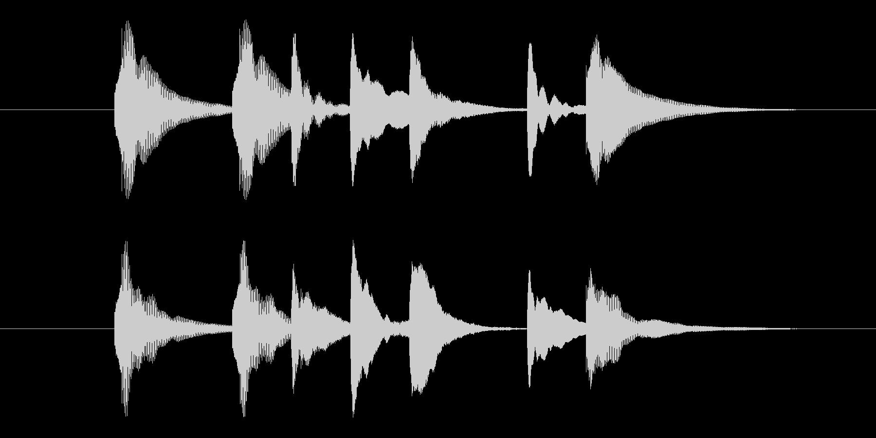 木琴の癒しジングルの未再生の波形